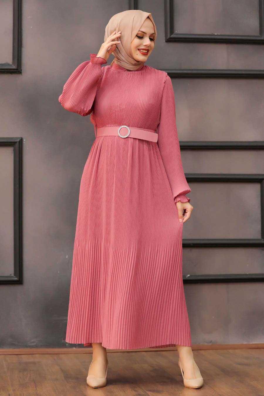 Dusty Rose Hijab Dress 2751GK