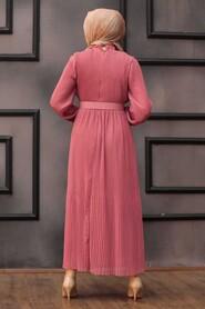 Dusty Rose Hijab Dress 2751GK - Thumbnail