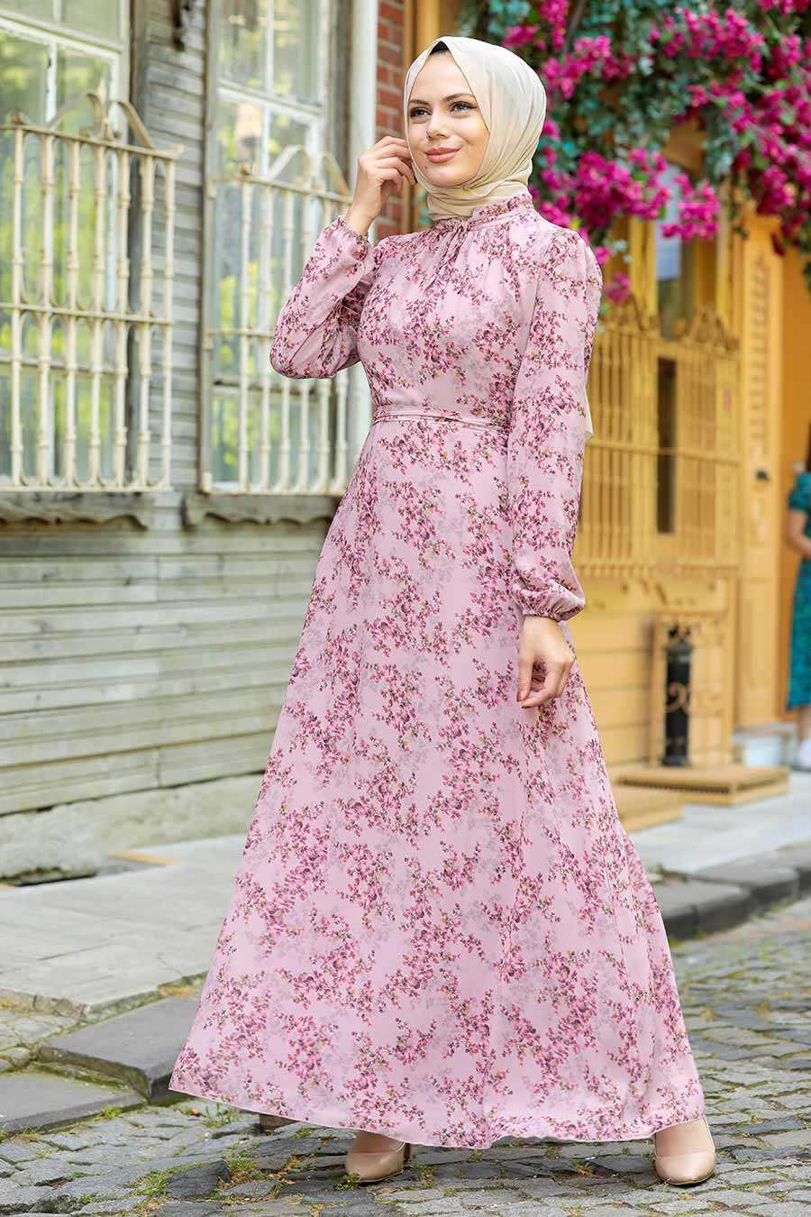 Dusty Rose Hijab Dress 279011GK