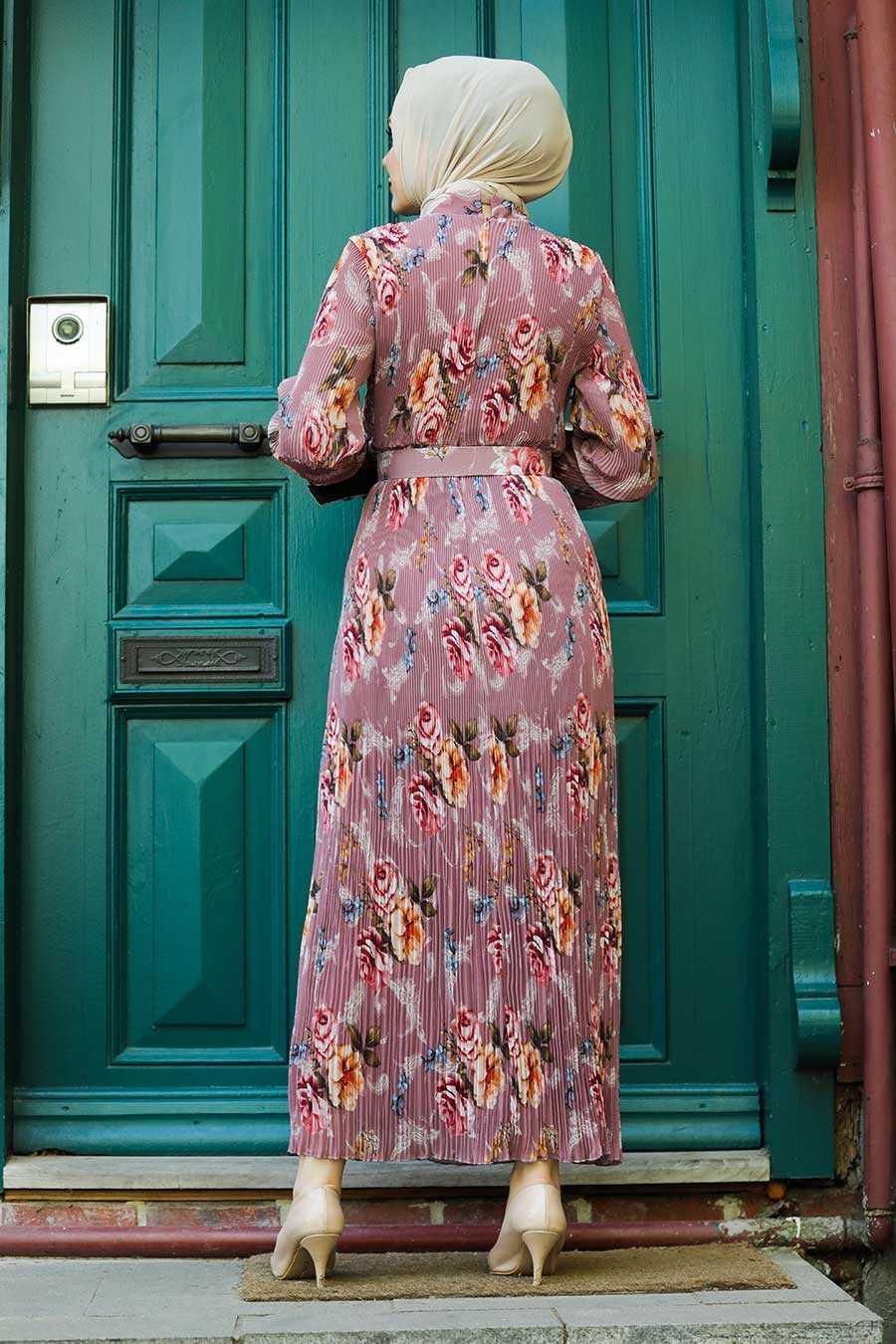 Dusty Rose Hijab Dress 2894GK