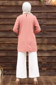 Dusty Rose Hijab Dual Suit 3039GK - Thumbnail