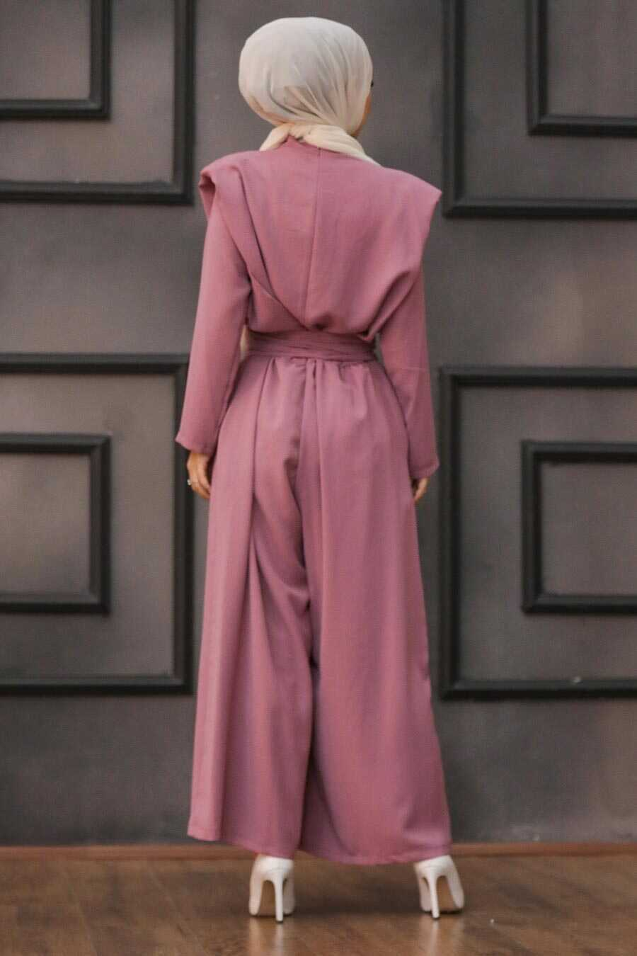 Dusty Rose Hijab Dual Suit Dress 1471GK