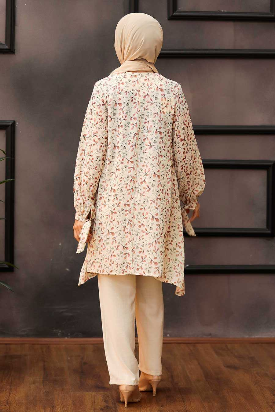 Dusty Rose Hijab Dual Suit Dress 30091GK