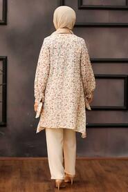 Dusty Rose Hijab Dual Suit Dress 30091GK - Thumbnail