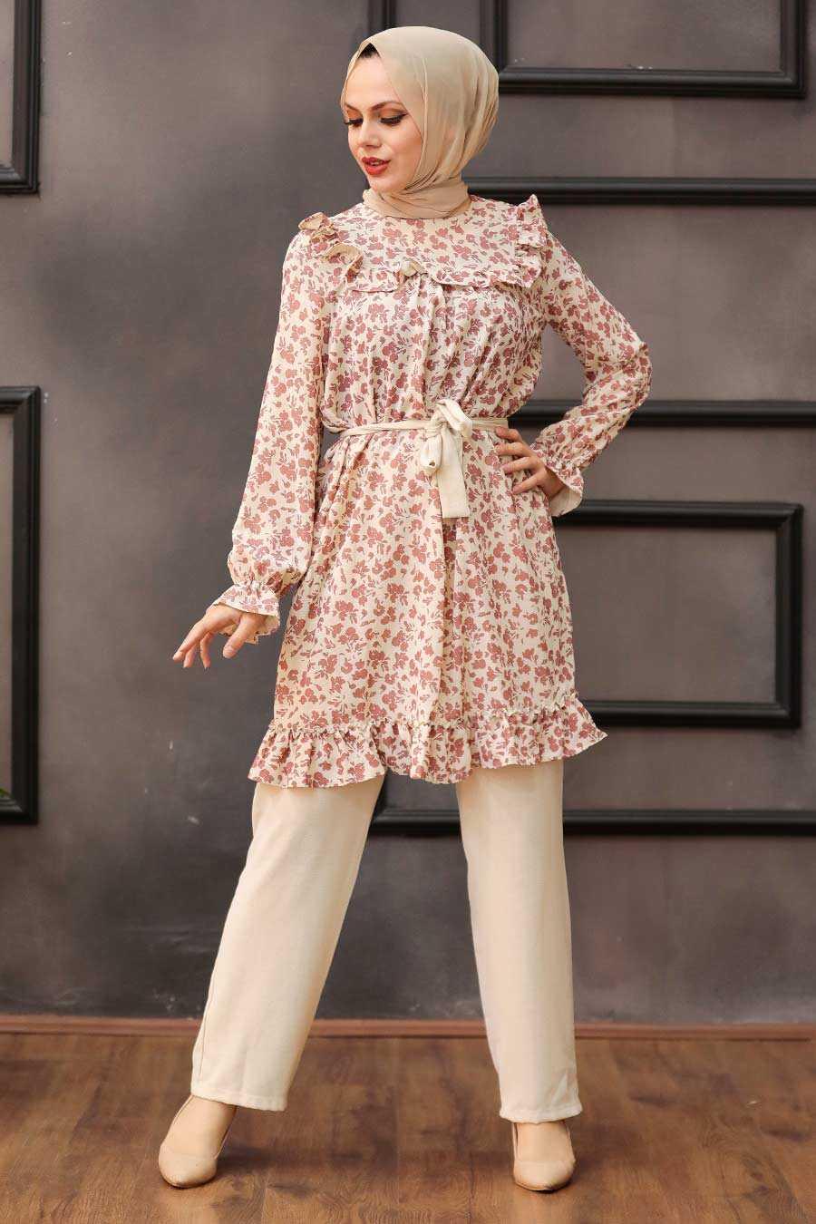 Dusty Rose Hijab Dual Suit Dress 30410GK