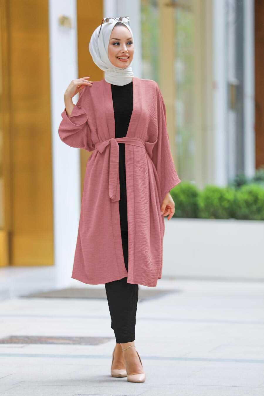 Dusty Rose Hijab Kimono 40930GK