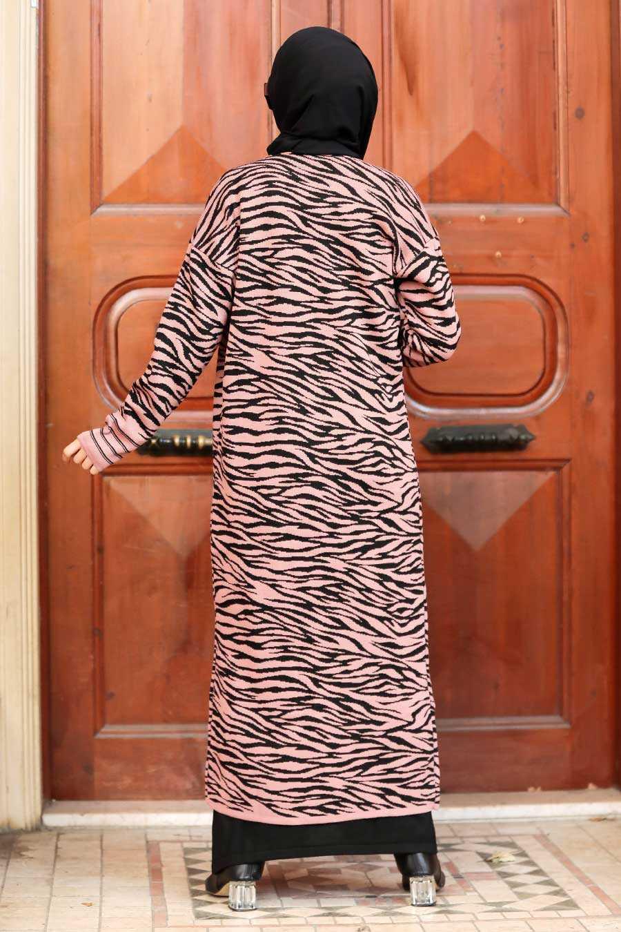 Dusty Rose Hijab Knitwear Cardigan 3145GK