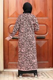 Dusty Rose Hijab Knitwear Cardigan 3145GK - Thumbnail
