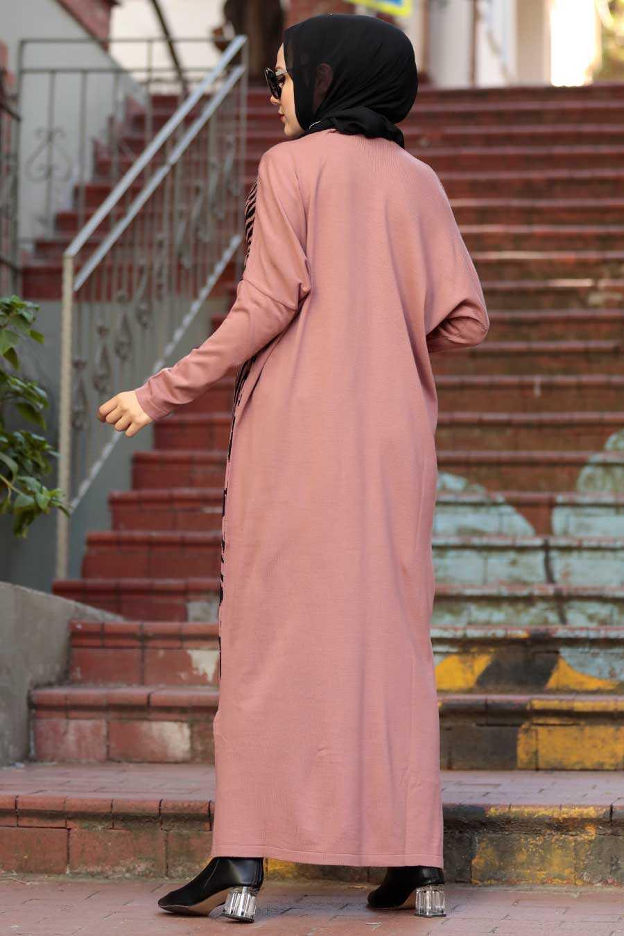 Dusty Rose Hijab Knitwear Dress 3051GK