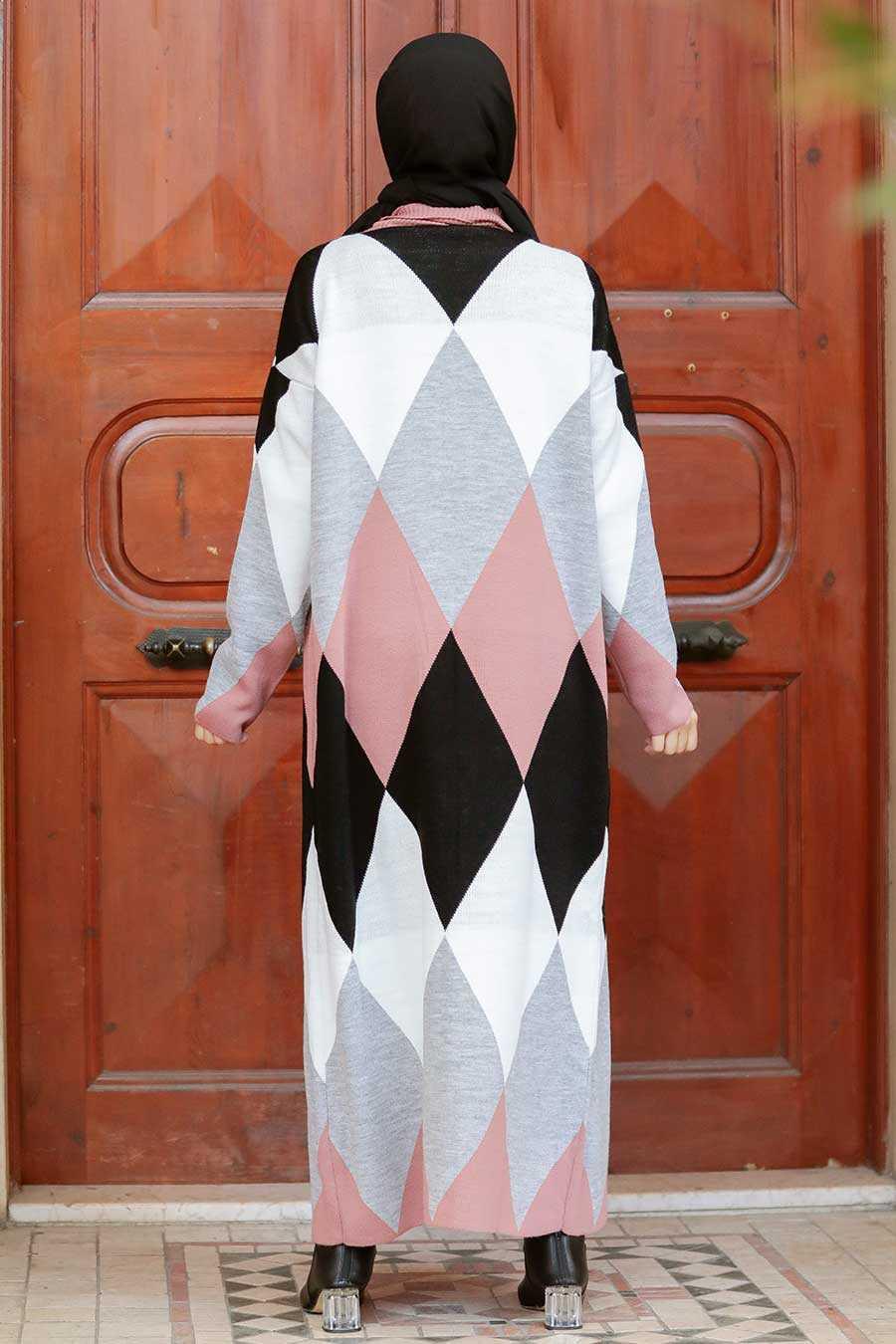 Dusty Rose Hijab Knitwear Suit Dress 3181GK
