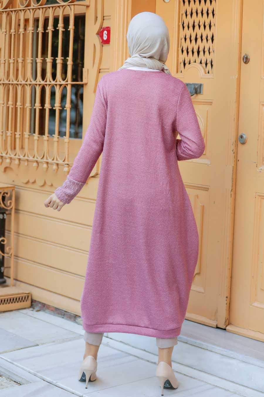 Dusty Rose Hijab Knitwear Tunic 30690GK