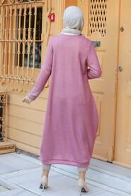 Dusty Rose Hijab Knitwear Tunic 30690GK - Thumbnail