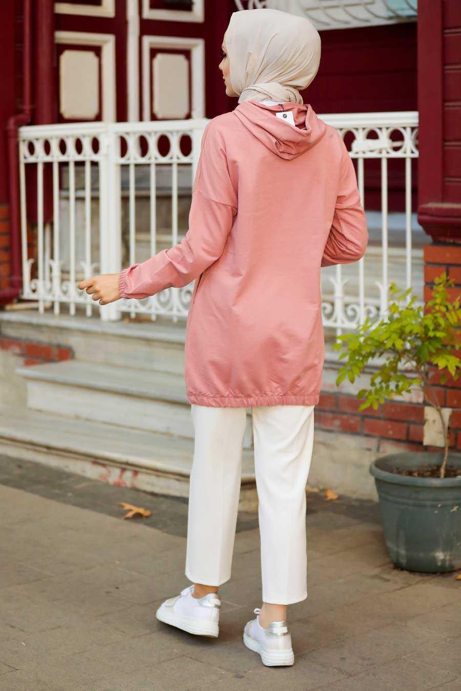 Dusty Rose Hijab Sweatshirt & Tunic 4135GK