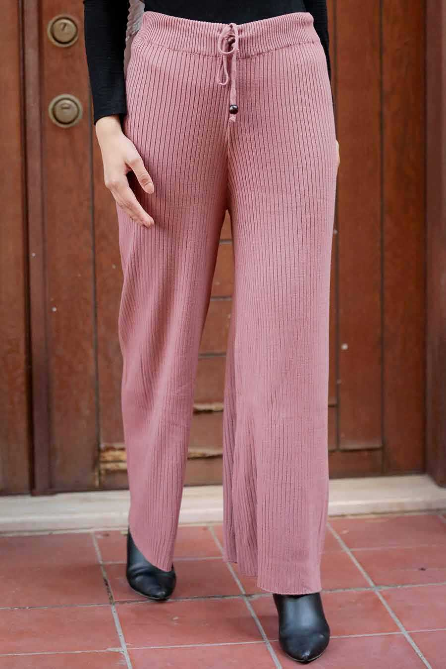 Dusty Rose Hijab Trousers 3101GK