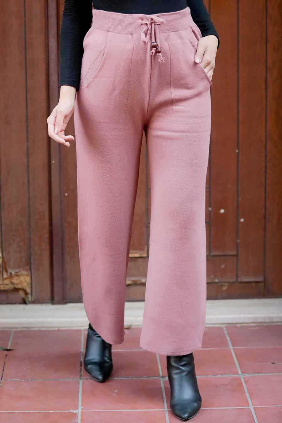 Dusty Rose Hijab Trousers 3107GK