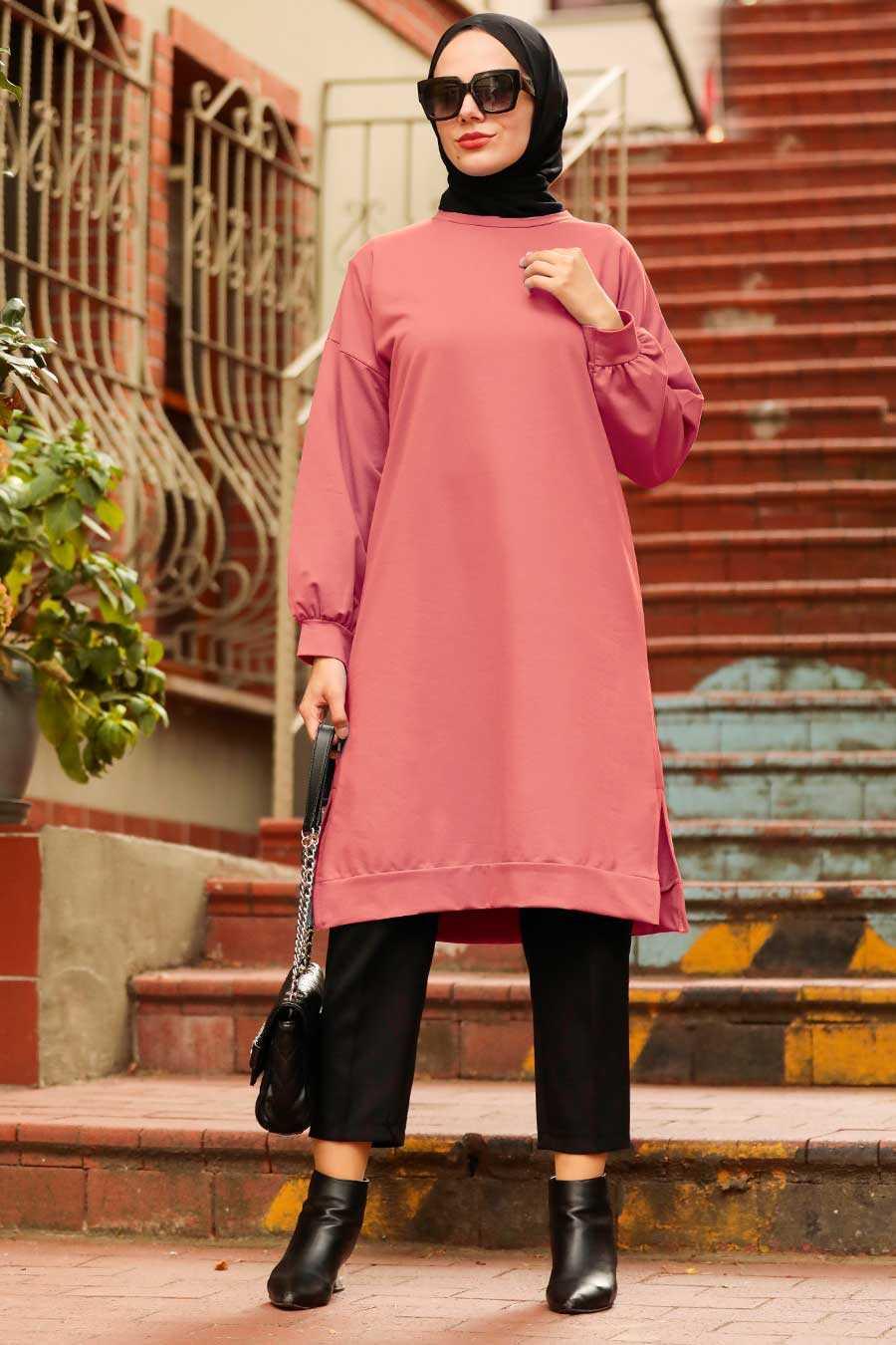 Dusty Rose Hijab Tunic 16020GK