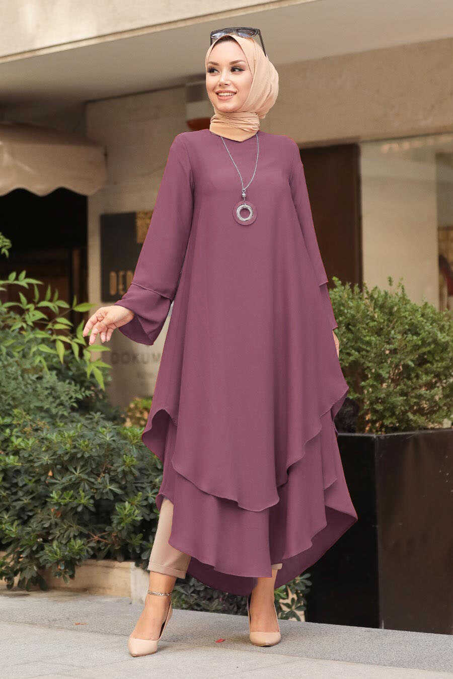 Dusty Rose Hijab Tunic 33170GK