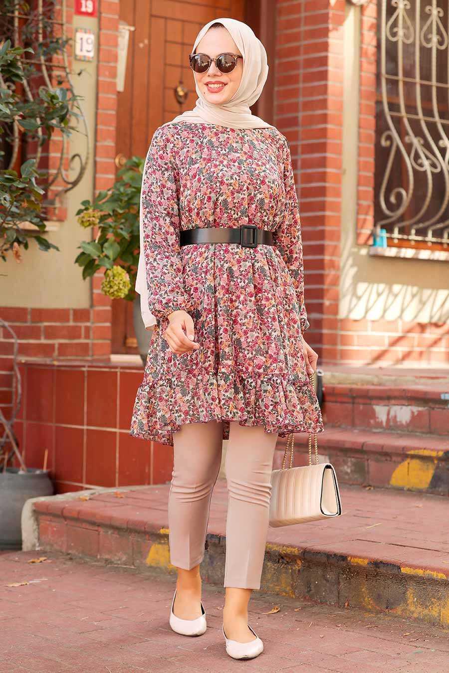 Dusty Rose Hijab Tunic 70590GK