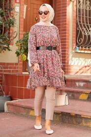 Dusty Rose Hijab Tunic 70590GK - Thumbnail