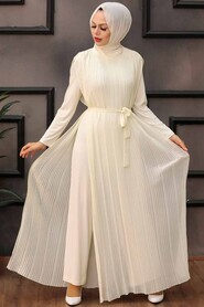 Ecru Hijab Overalls 30120E - Thumbnail