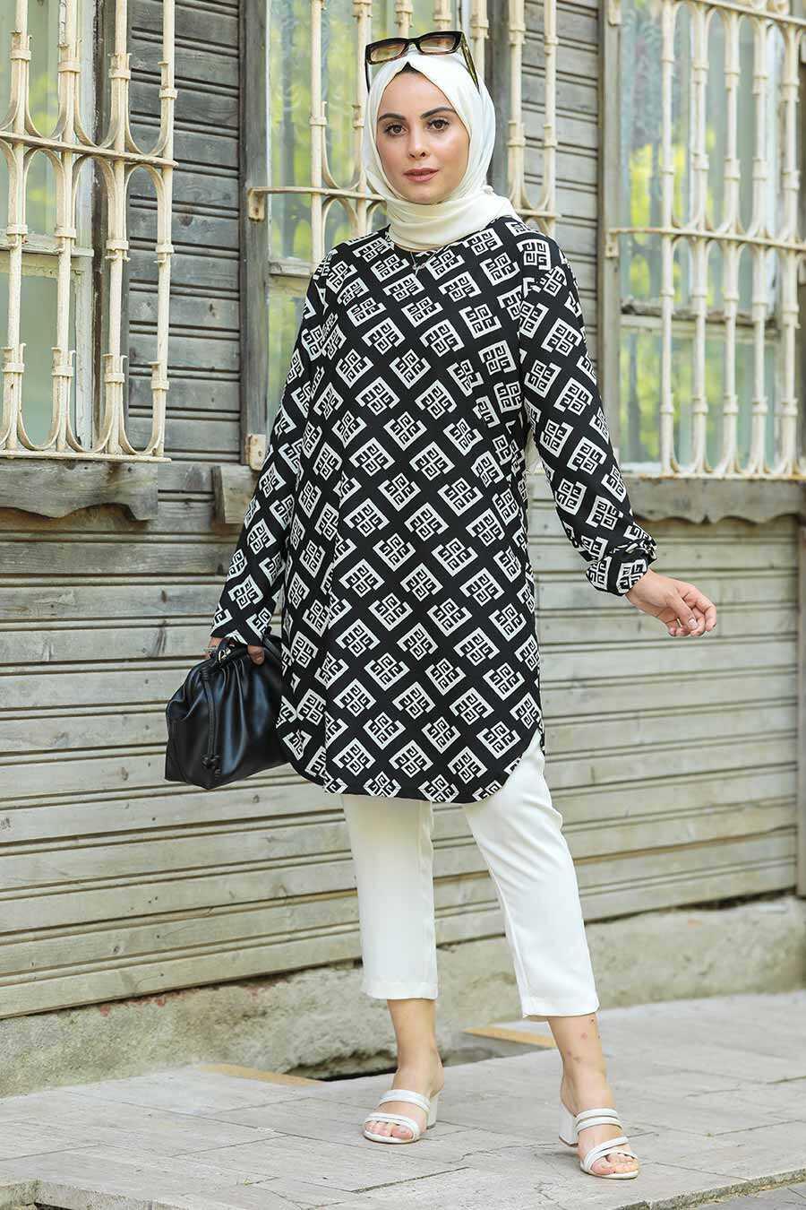 Ecru Hijab Tunic 358121E