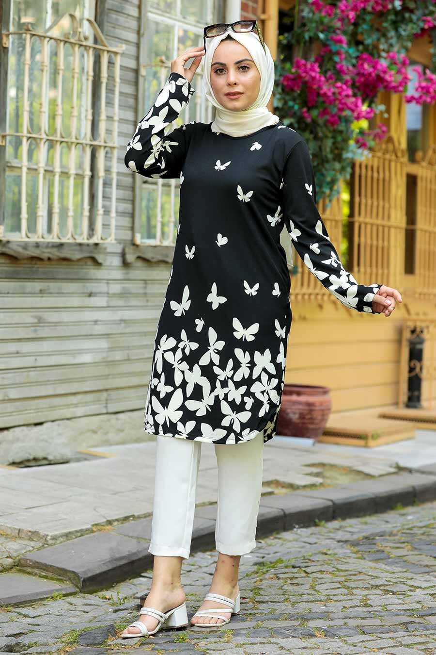Ecru Hijab Tunic 358125E
