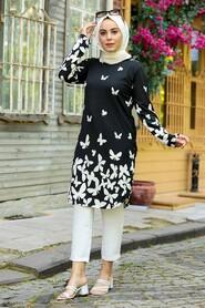 Ecru Hijab Tunic 358125E - Thumbnail