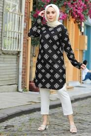 Ecru Hijab Tunic 358126E - Thumbnail