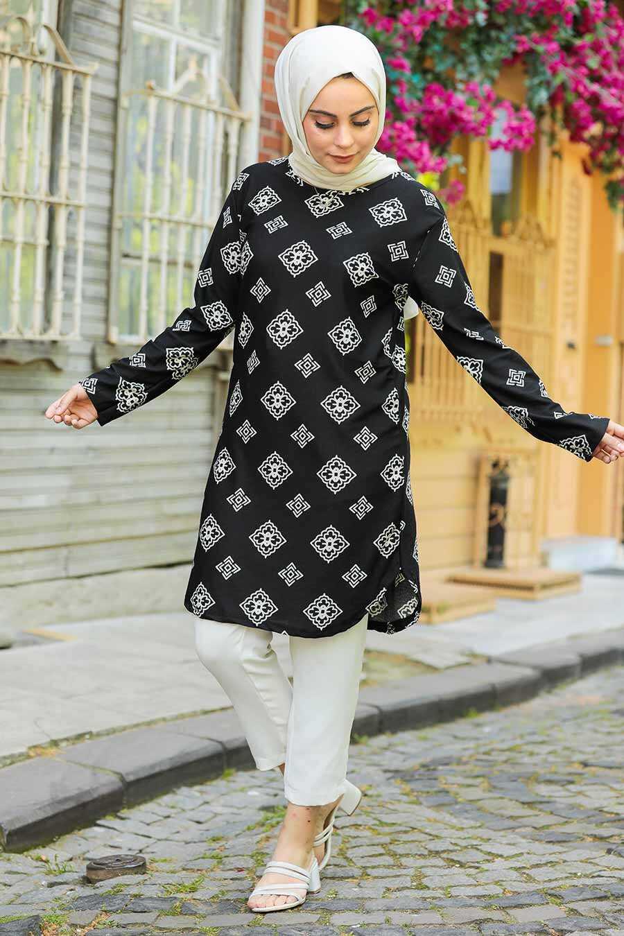 Ecru Hijab Tunic 358126E