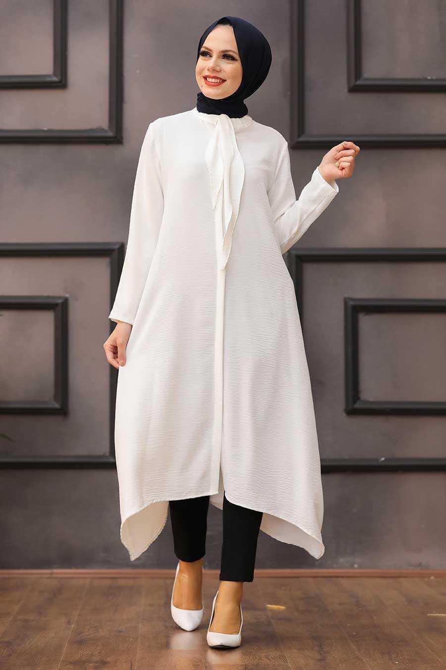 Ecru Hijab Tunic 540E