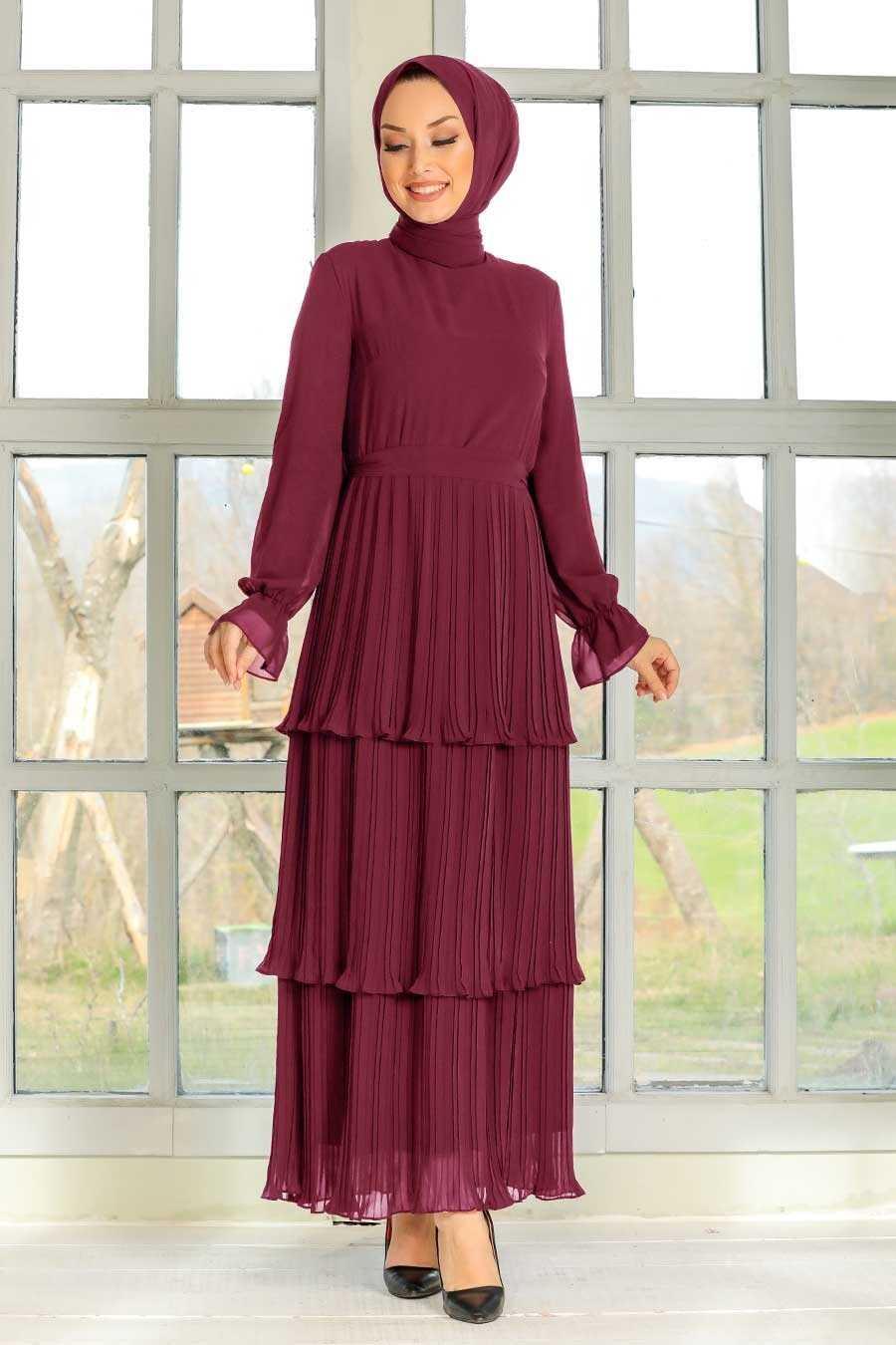 Fushia Hijab Dress 2733F