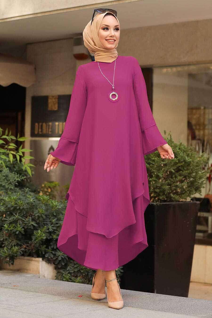 Fushia Hijab Tunic 33170F