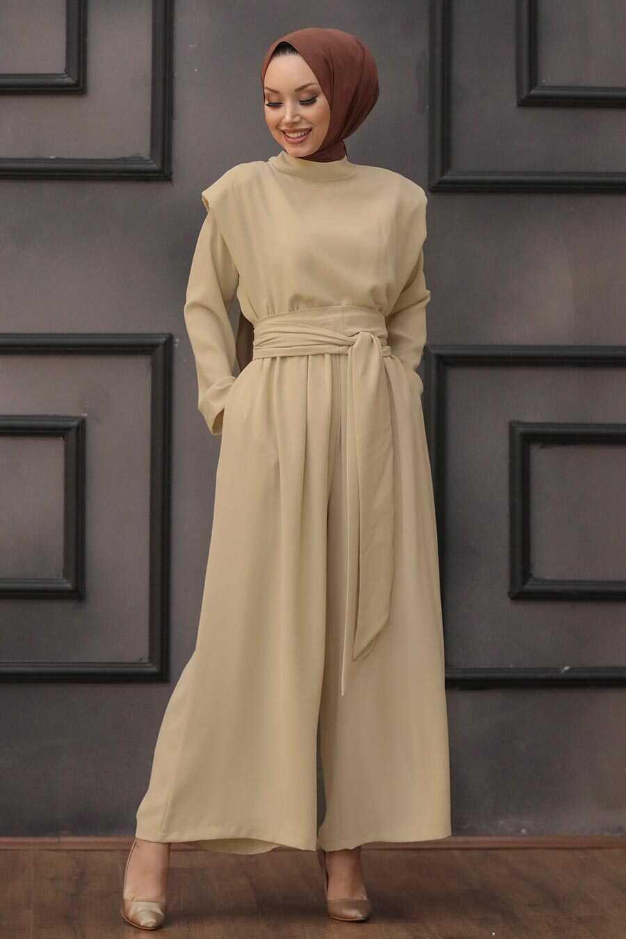 Gold Hijab Dual Suit Dress 1471GOLD