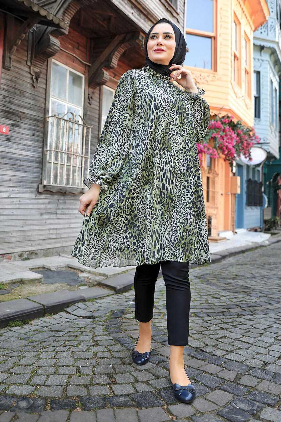 Green Hijab Dress 1434Y