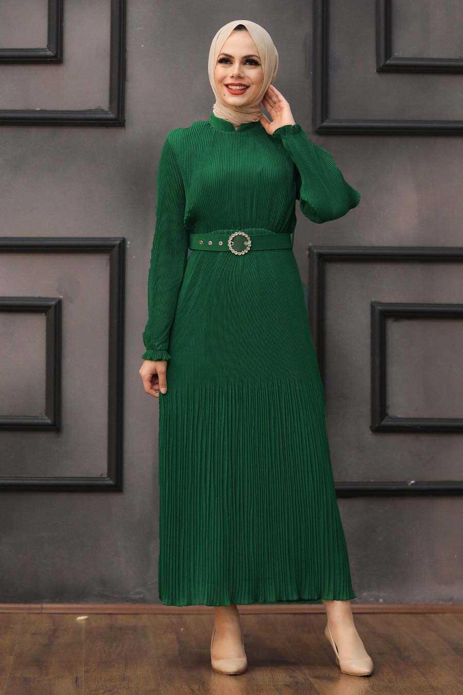 Green Hijab Dress 2751Y