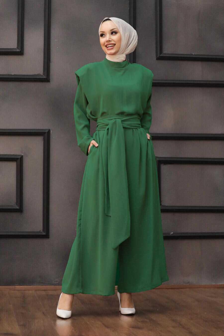 Green Hijab Dual Suit Dress 1471Y