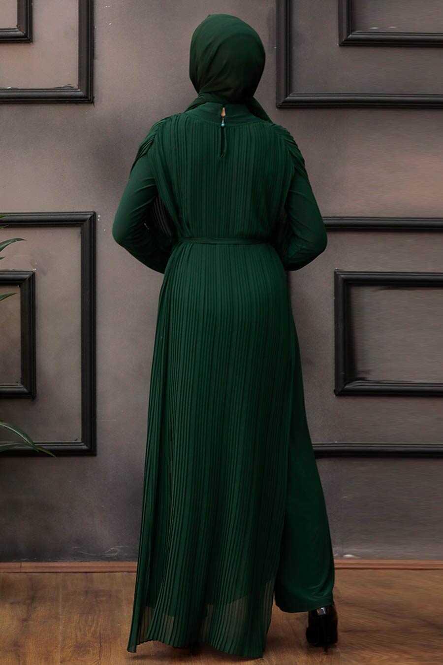 Green Hijab Overalls 30120Y