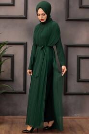 Green Hijab Overalls 30120Y - Thumbnail