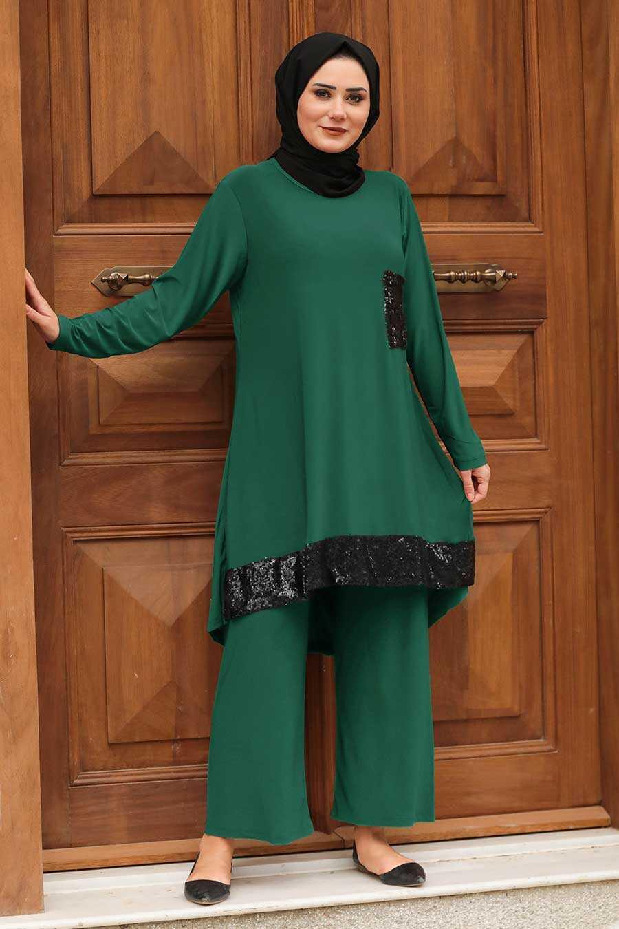 Green Hijab Suit Dress 1946Y