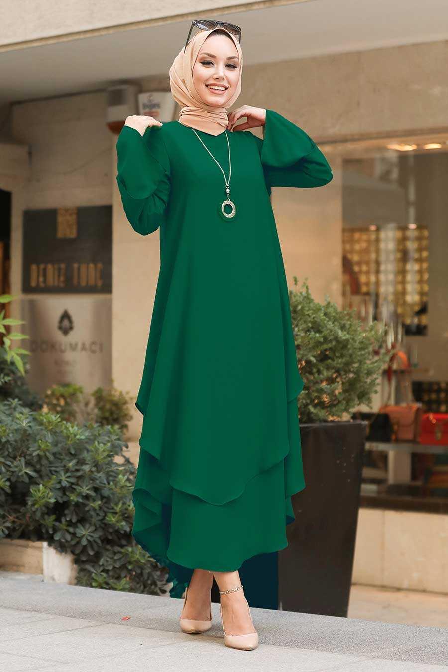 Green Hijab Tunic 33170Y