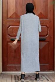 Grey Hijab Knitwear Vest 3324GR - Thumbnail