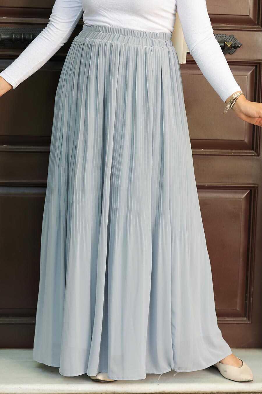 Grey Hijab Skirt 32140GR