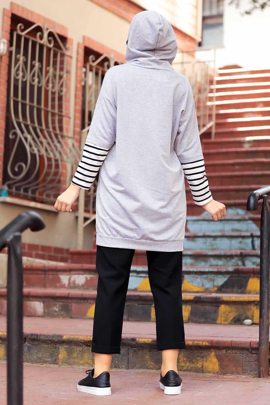 Grey Hijab Sweatshirt & Tunic 4212GR