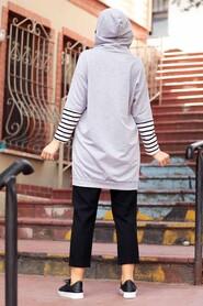Grey Hijab Sweatshirt & Tunic 4212GR - Thumbnail