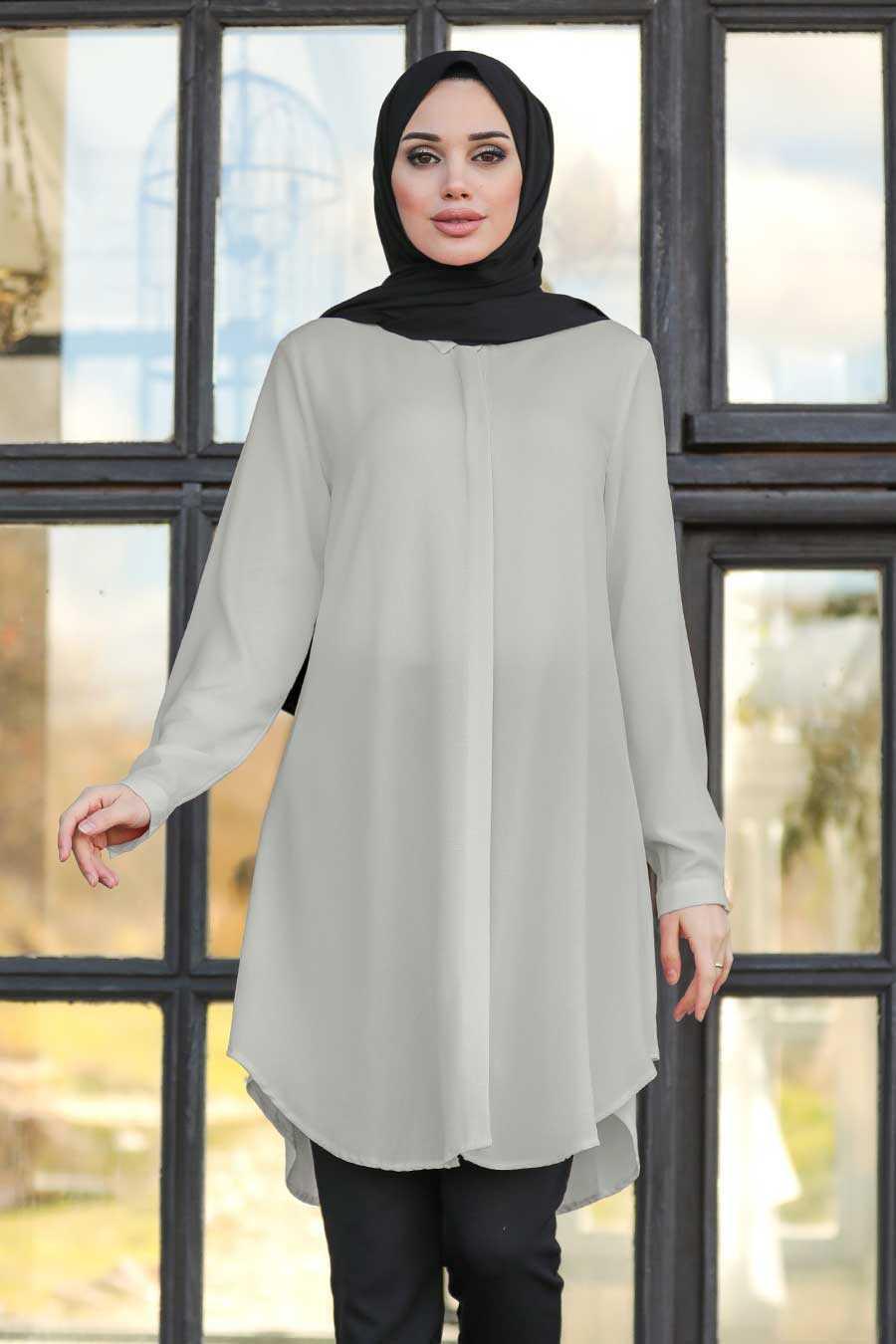 Grey Hijab Tunic 253GR