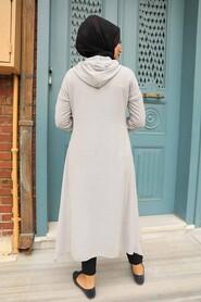 Grey Hijab Tunic 510GR - Thumbnail