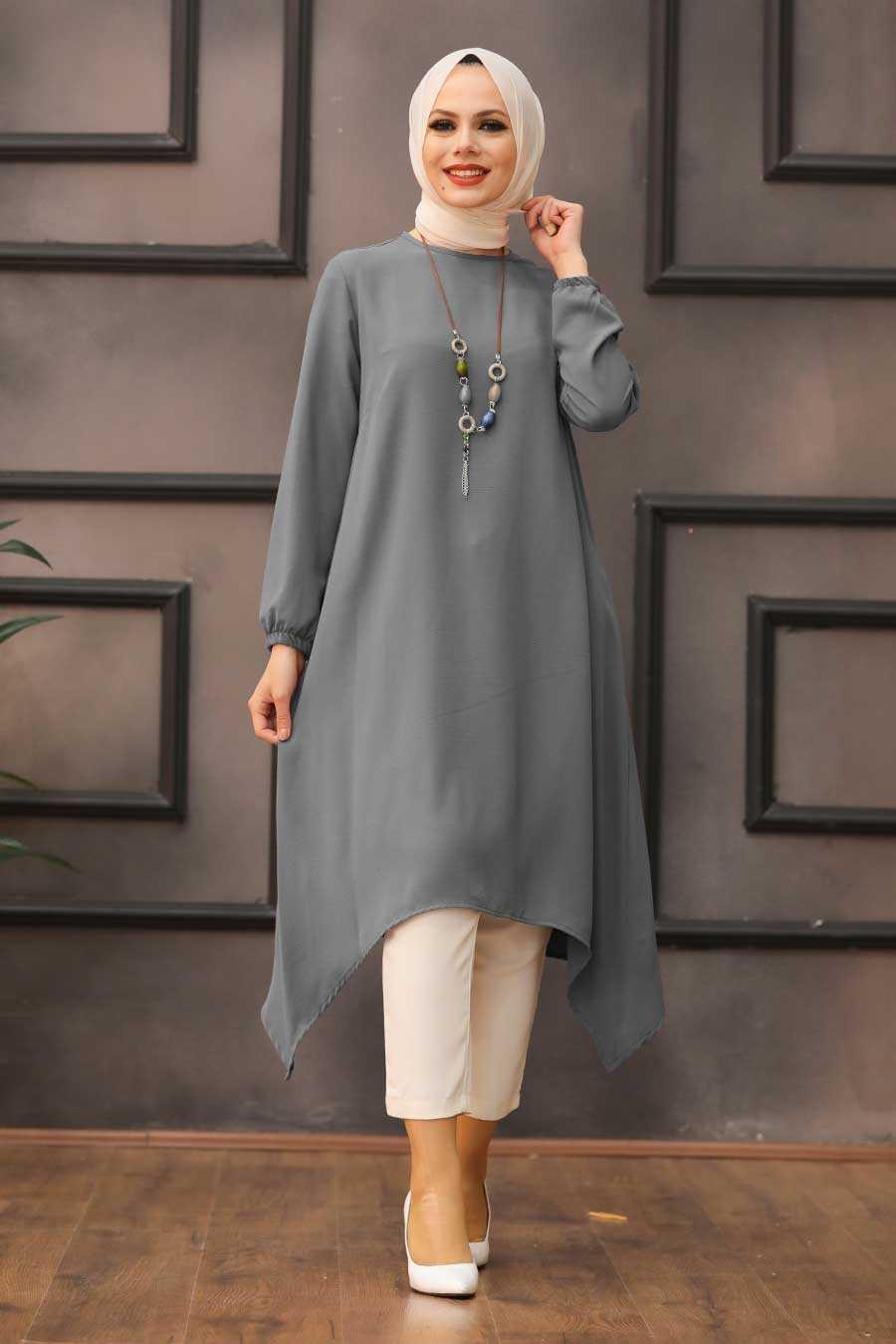 Grey Hijab Tunic 541GR