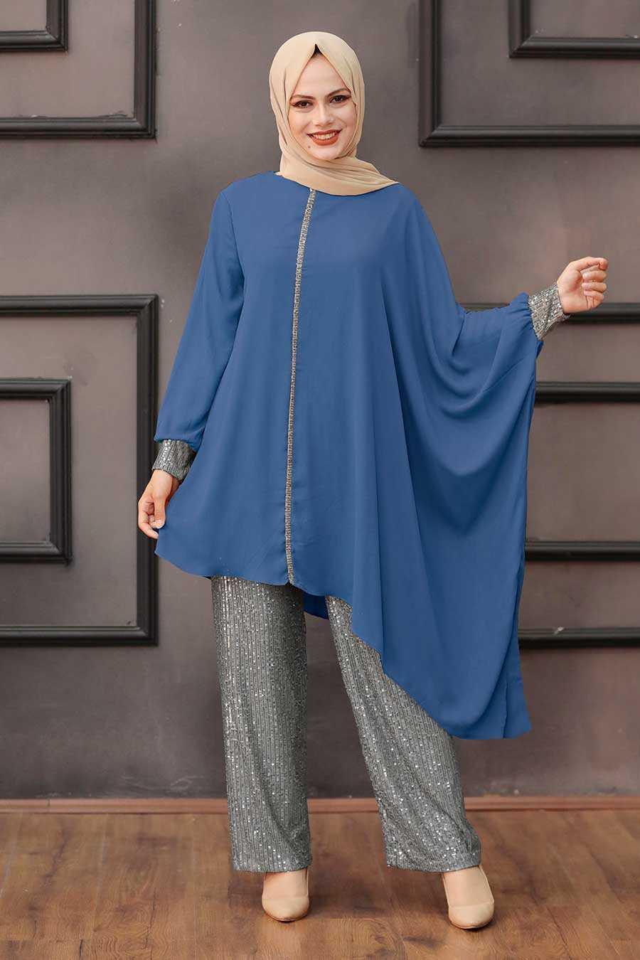 İndigo Blue Dual Suit Dress 10830IM