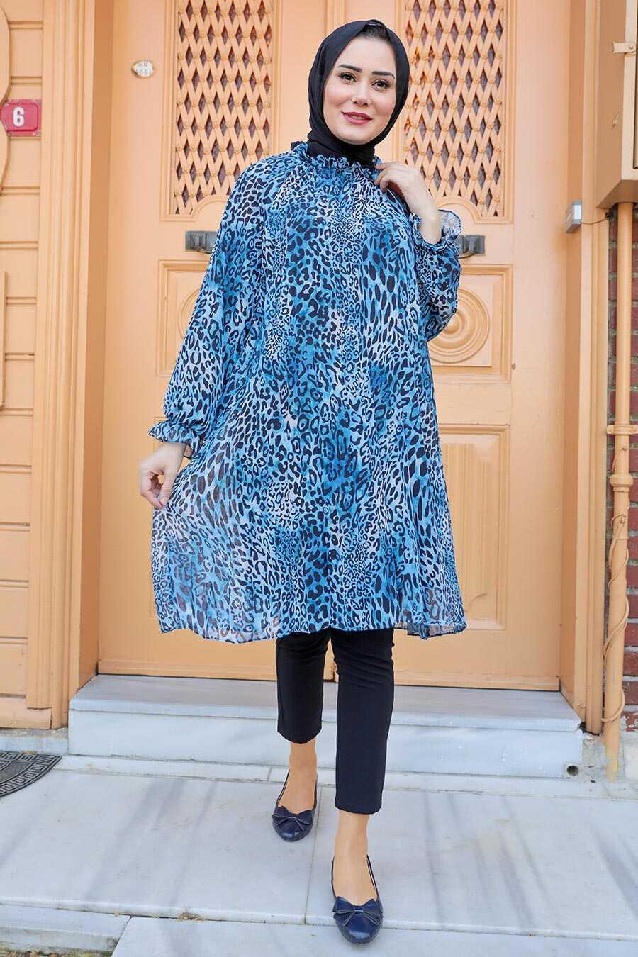 İndigo Blue Hijab Dress 1434IM