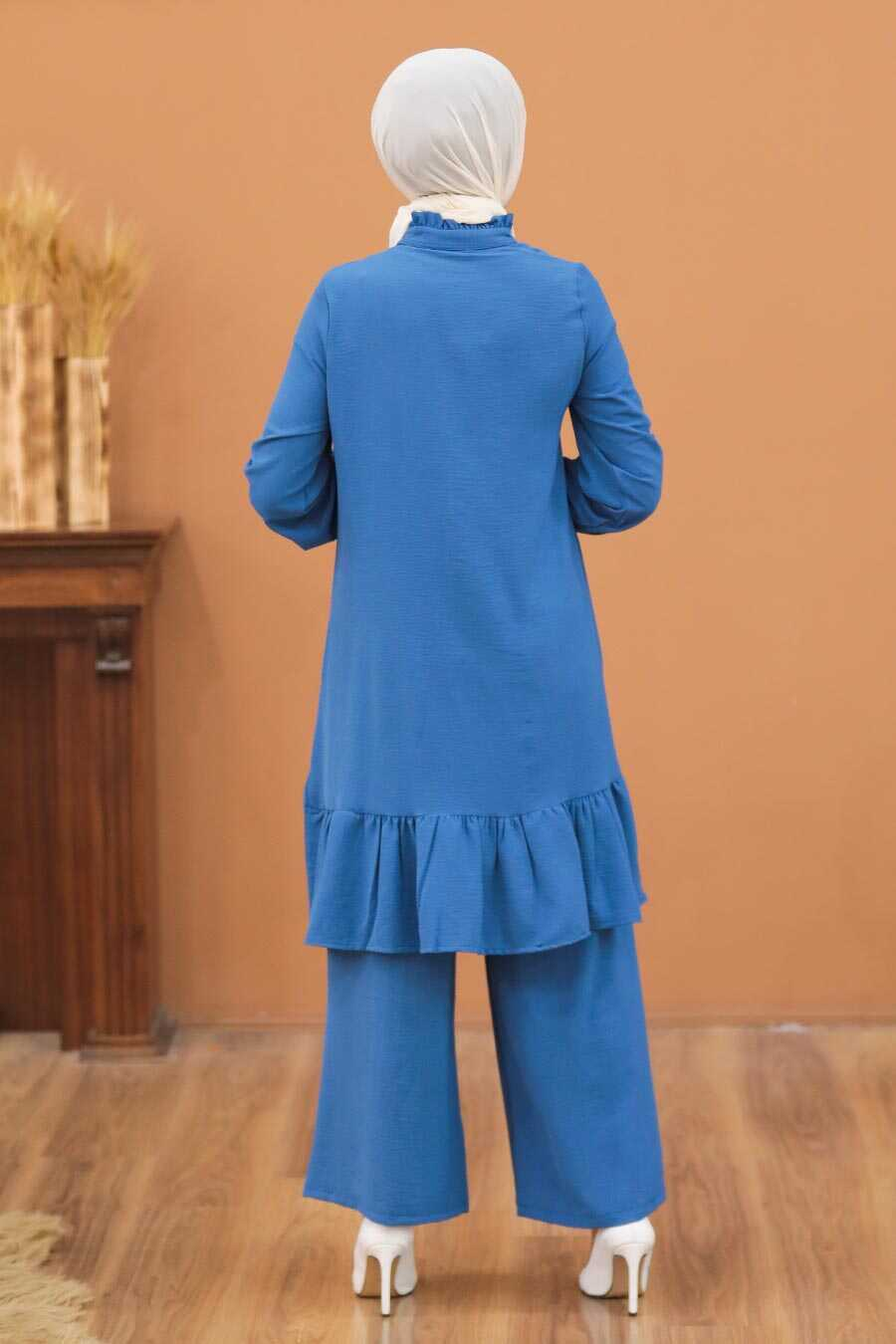 İndigo Blue Hijab Dual Suit Dress 2428IM